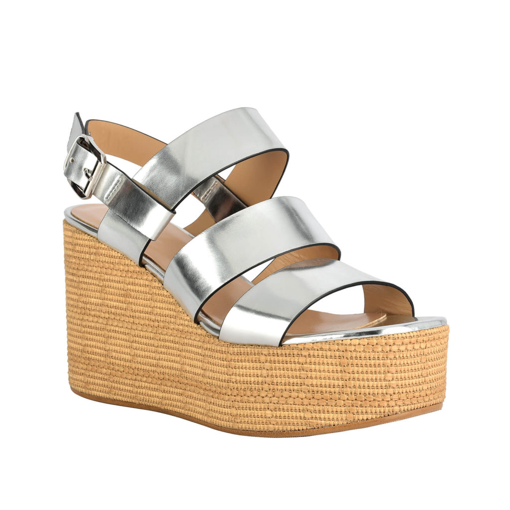 sandal with silver wedge formentini