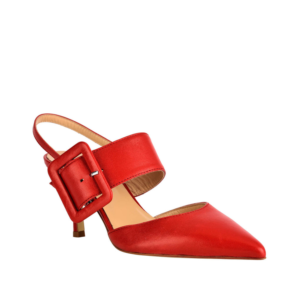sandal with red formentini heel
