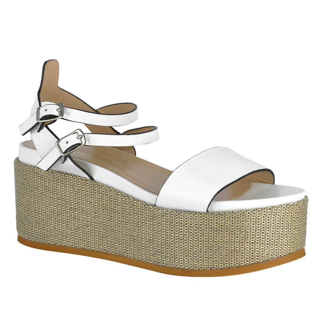white sandal formentini