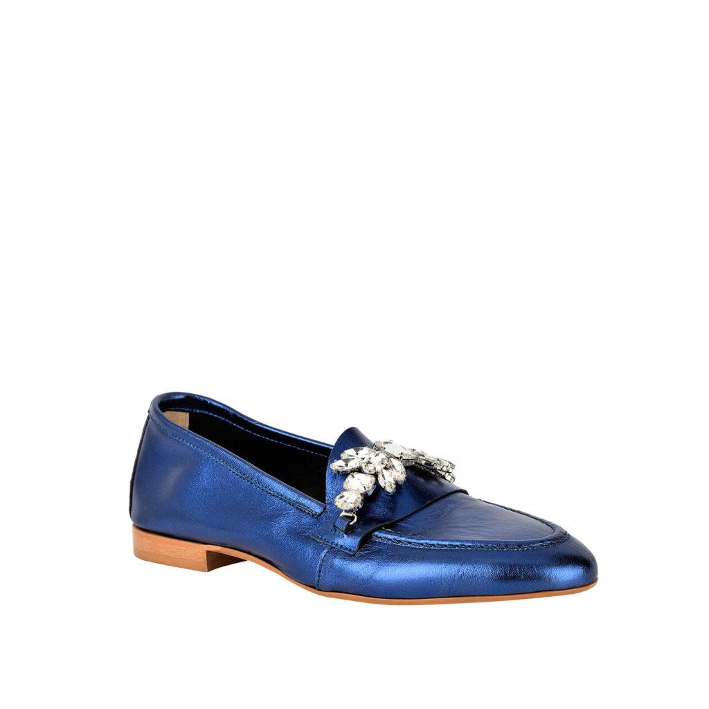 blue formentini moccasin