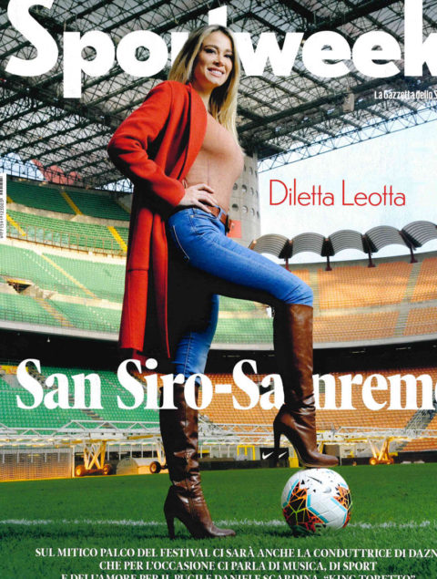 Diletta Leotta Sportweek da San Siro a Sanremo