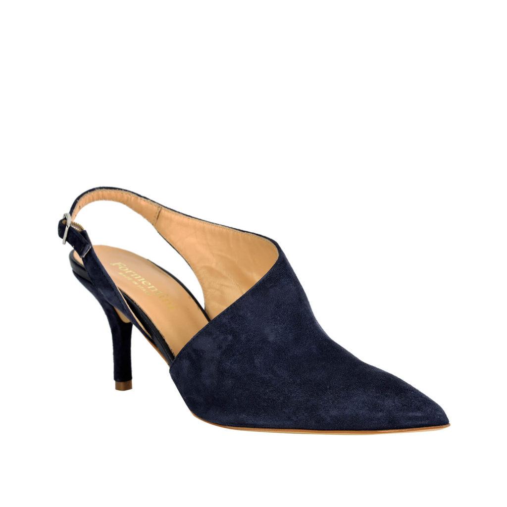 sandalo con tallone aperto blue formentini